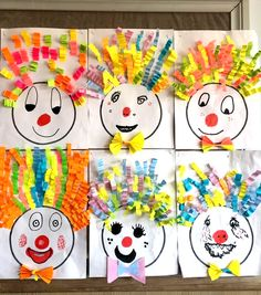 Winter Crafts For Kids Clown Crafts, Circus Crafts, Carnival Crafts, Carnival Themes, Winter Crafts For Kids, Summer Crafts, Art For Kids, Easy Crafts, Diy And Crafts