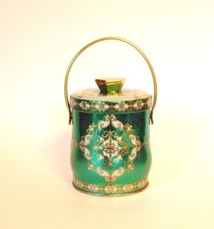 Vintage Murray Allen Green Morocco Candy Tin by HouseofLucien, $12.00