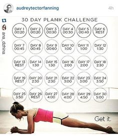 I am joining @audreytectorfanning in this November plank challenge anyone else…