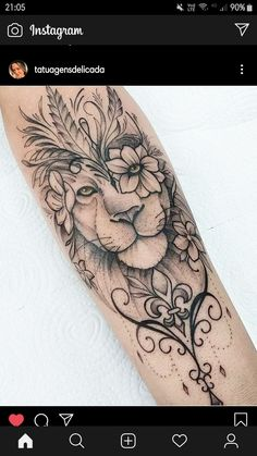 40 Photos lion tattoos [Female and male] # 2 - Top Tattoos Forarm Tattoos, Leo Tattoos, Rose Tattoos, Gypsy Tattoos, Arabic Tattoos, Bodysuit Tattoos, Dragon Tattoos, Female Lion Tattoo, Tattoo Feminin