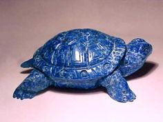 Lapis Lazuli turtle/ OMG!!!! My Fav. color and a turtle.....I MUST GET THIS!!!!! Lapis Lazuli, Reptiles, Ceramic Turtle, Turtle Figurines, Turtle Crafts, Turtle Jewelry, Carapace, Crocodile, Turtle Love