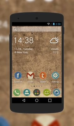 Retro theme for Android Phone  http://androidlooks.com/theme/t2199-retro/        #android, #androidTheme, #vintage, #soloLauncher