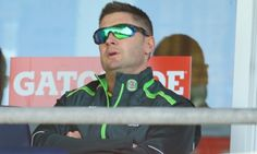 Michael Clarke re-injured his left hamstring while batting in Friday's one-dayer against South A...