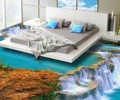 Give your home some incredible depth by creating amazing visual effects with these 3D illusion floors. Rather than contend with a boring, flat surface, the 3D epoxy designs will transform your room with mind blowing effects.