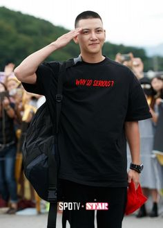 Ji Chang-wook reports for army duty » Dramabeans Korean drama recaps
