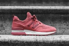 c40b80702 New Balance Womens Exclusive WMNS 574 Pack Kith Copper Rose Sneakers Shoes  Pink