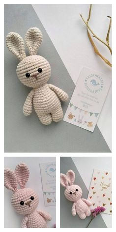 Amigurumi Little Cute Bunny Free Pattern – Free Amigurumi Patterns - Knitting Crochet Pattern Free, Crochet Patterns Amigurumi, Crochet Dolls, Easy Knitting Projects, Crochet Projects, Crochet Easter, Mini Amigurumi, Amigurumi Toys, Cute Bunny