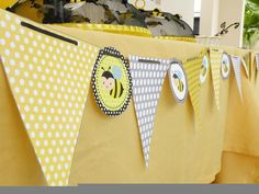 Banner at a Bumble Bee Party #bumblebee #banner