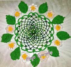 Mis creaciones a crochet y mas...: Centro de mesa de margaritas