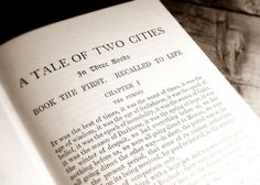 A Tale of Two Cities. Am reading it... Again <3