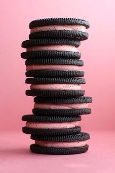 Very berry Oreo stack..