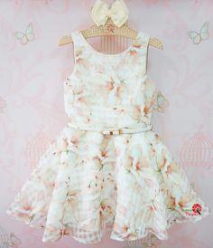 Vestido de Festa Infantil Organza Pietra Petit Cherie