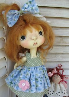 Handmade tiny rag doll plus outfit for Connie Lowe Sprockets #2~by DCH