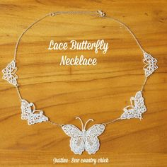 Lace Butterfly necklace: A cute, light, and airy DIY necklace for summer!