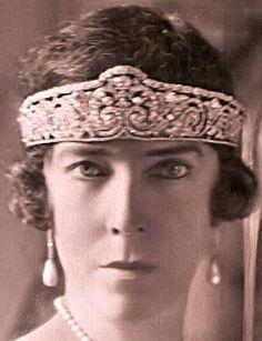 Queen Elisabeth of the Belgians wearing the Diamond Bandeau Tiara