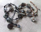 Necklace - bracelet laps, with black finish or leather
