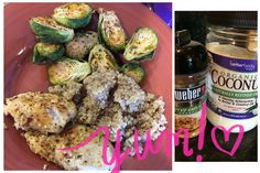 I couldn't eat this fast enough!!! So good! Sautéed tilapia, quinoa and oven toasted Brussels sprouts. Just used that seasoning and coconut oil  #21dayfixapproved  1green 1 red  1 yellow