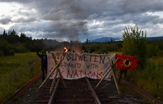 WET'SUWET'EN BLOCK TRAINS IN SOLIDARITY WITH SIX NATIONS | Warrior Publications Stand Down, Six Nations, Train Tracks, We The People, Trains, Public, Political Freedom, Train