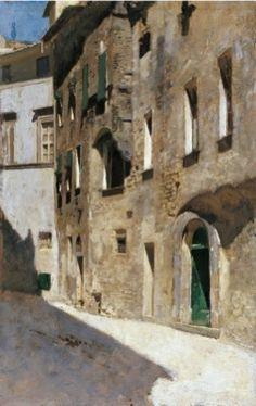 VINCENZO CABIANCA, Effetto di sole, 1868-1872, olio su tavola, cm 32x20, Firenze, Galleria d'arte moderna