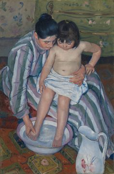 Mary Cassatt (American in France) - The Child's Bath - 1893