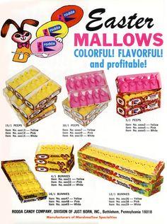 Vintage Peeps Easter ad