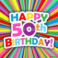 Image result for happy 50th birthday greeting