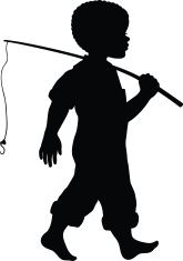 African American Boy with fishing rod vector artwork illustration # African American vector artwork illustration # boy Vector Preto E Branco Obtain Silhouette Painting, Silhouette Design, Kids Silhouette, Silhouette Projects, Silouette Art, Boy Fishing, Going Fishing, African American Artwork, Fish Quilt