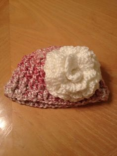 Soft and Warm Infant Baby Girl Hat Beanie pink with by QuinnsBin 87ebb55c0198