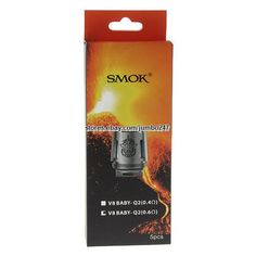 Authentic SMOK TFV8 Baby Q2 Coil Heads (5-Pack) 0.6ohm #Original