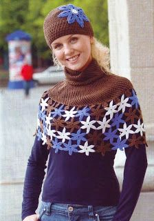 crochet hat and cape. free pattern