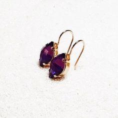 Swarovski Crystal Amethyst Earrings   Sylar   Bidiliia Amethyst Earrings, Amethyst Crystal, Swarovski Ring, Swarovski Crystals, Ring Necklace, Stud Earrings, Statement Rings, Druzy Ring, Jewelry Making