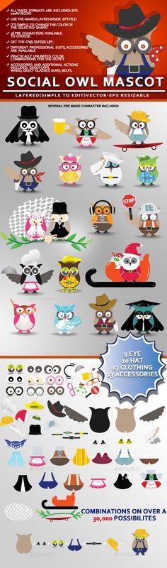 Social Owl Mascot