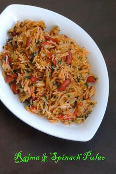 Recipes for spinach in search engine - at least 21699 perfect recipes for spinach. Find a proven recipe from Tasty Query! Rice Recipes, Veggie Recipes, Indian Food Recipes, Vegetarian Recipes, Cooking Recipes, Ethnic Recipes, Veggie Meals, Tiffin Recipe, Bulgur