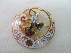 Enameled Siam Dancer Pin Item 195 by KittyCatShop on Etsy