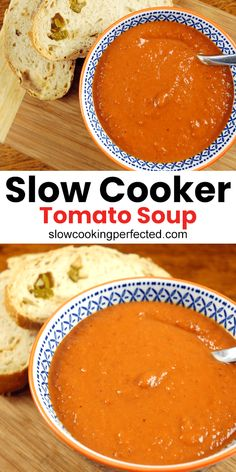 Tomato Bisque Soup, Fresh Tomato Soup, Canned Tomato Soup, Tomato Soup Recipes, Tomato Tomato, Slow Cooking, Healthy Cooking, Healthy Recipes, Cooking Okra