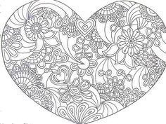 Heart Zentangle Paisley Doodle Drawing by Hand Doodle Coloring, Colouring Pics, Mandala Coloring, Coloring Sheets, Coloring Books, Coloring Pages For Grown Ups, Heart Coloring Pages, Free Coloring Pages, Printable Coloring Pages