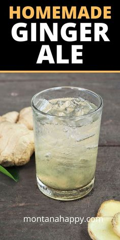 Homemade Ginger Ale Recipe will help your immune system and will help ease cold symptoms. Ginger is also good for nausea and upset stomaches. Just four simple ingredients to make this amazing drink. Ginger Ale Recipe, Homemade Ginger Ale, Kitchen Recipes, Cooking Recipes, Healthy Recipes, Bread Recipes, Cooking Time, Keto Recipes, Homemade Fajita Seasoning