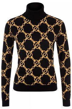 Twin Set Damen Rollkragenpullover Schwarz | SAILERstyle Twin Set, Trends, Elegant, Sweaters, Fashion, Modern Fashion, Knit Jacket, Clothing, Jackets
