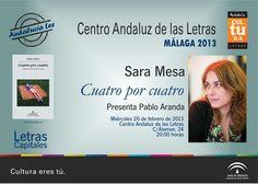 Sara Mesa presenta su nueva novela Cuatro por cuatro en Málaga.