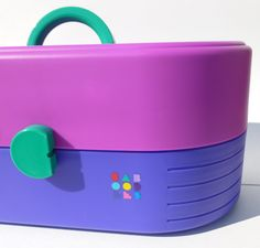 Caboodles Storage Case in Magenta, Purple and Teal With Mirror for Organizing Makeup, Cosmetics, Jewelry, Hair Accessories. $39.00, via Etsy.