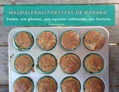 Magdalenas o tortitas paleo faciles de congelar y transportar. Para comidas escolares o para llevar el trabajo