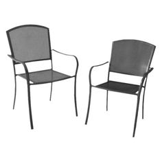 Vaughn 2-Piece Metal Mesh Patio Dining/Bistro Chair Set $149.00. already own 2 of these  #own #patio