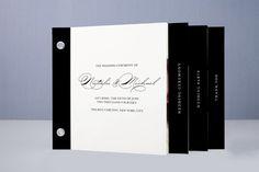 Modern Elegance Wedding Program Minibook™ Cards by annie clark at minted.com