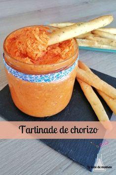 Recette de tartinade de chorizo - Le labo de maman Tapenade, Chorizo, Healthy Dinner Recipes, Coco, Family Meals, Crockpot Recipes, Love Food, Pesto, Food And Drink