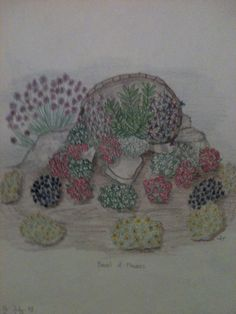 Barrel spilling flowers By Jeanne Tyrrell