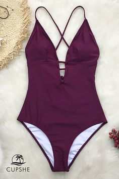 A must-have addition for your swim collection! Our Charming Plum One-Piece  Swimsuit is the perfect. a3394c876
