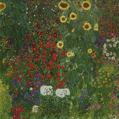 Garden with Sunflowers. Gustav Klimt