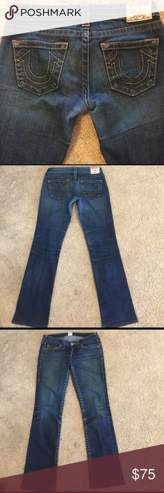 True Religion Johnny Low Rise Bootcut Jeans Adorable True Religion Johnny Low Rise Bootcut Jeans! In perfect condition just like brand new! No rips, stains, or fraying! True Religion Jeans Boot Cut