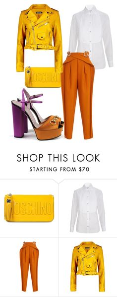 """""""Citrine Dream"""" by roxysgotmoxy ❤ liked on Polyvore featuring Moschino, Temperley London, Delpozo, Boohoo and Gucci"""