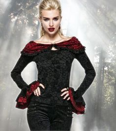 Gothic Punk Rave Steampunk Carmen Bluse Top Shirt 38 40  | eBay